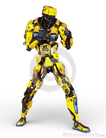 Free 3D CG Rendering Of Robot Royalty Free Stock Photography - 132396347