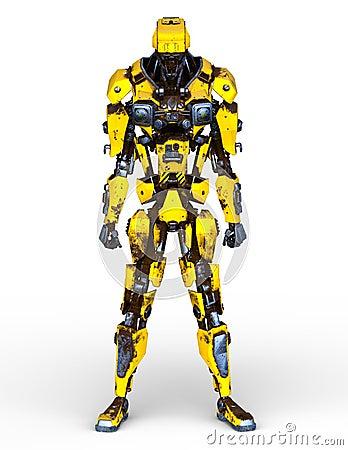 Free 3D CG Rendering Of Robot Stock Image - 132396371