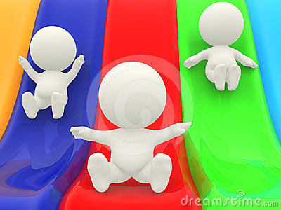 3D characters on slide