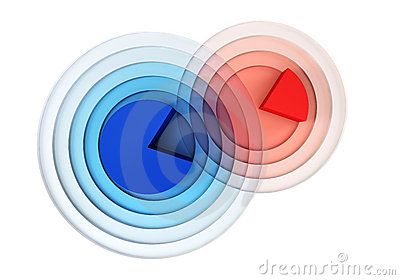 3d Chart Crossing Royalty Free Stock Images - Image: 14667739