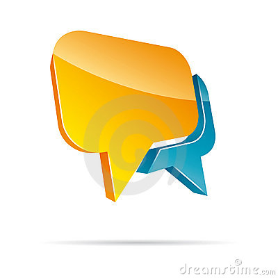 3D chat box vector