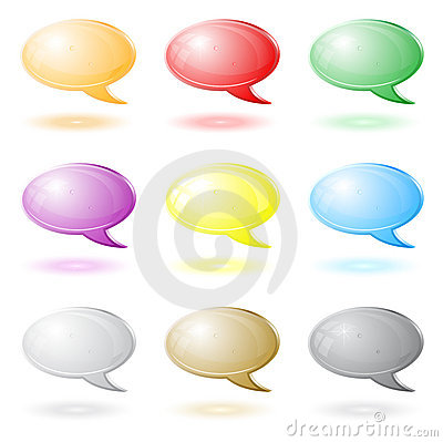 3d chat icons