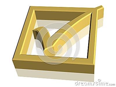 3D Check Mark Symbol
