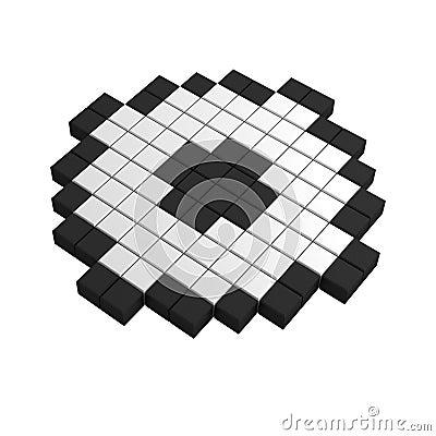 3d checkbox pixel icon