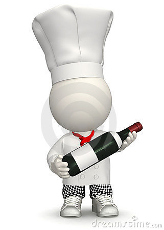 3D Chef with wine