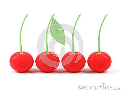 3d cherries