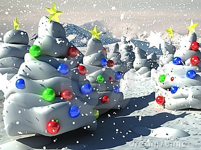 3D Christmas Background