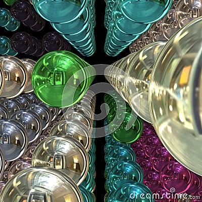 Free 3D Chrome Balls Stock Images - 6727664