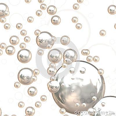 3D Chrome Bubbles