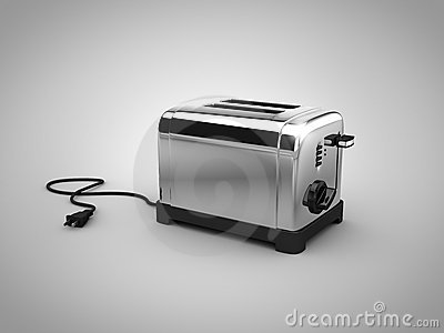 3d chrome toaster