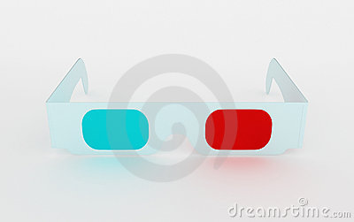3D cinema glasses for three-dimensional content