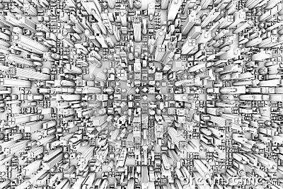 3D City Buildings Aerial