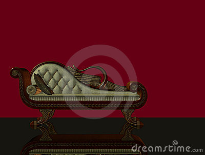 3d classical chaise longue
