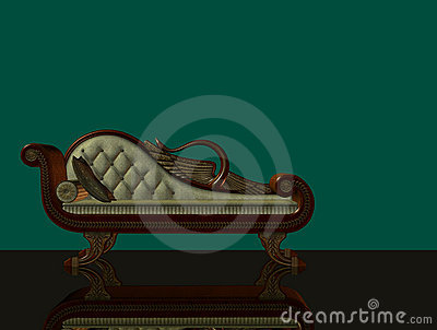 3d classical chaise longue