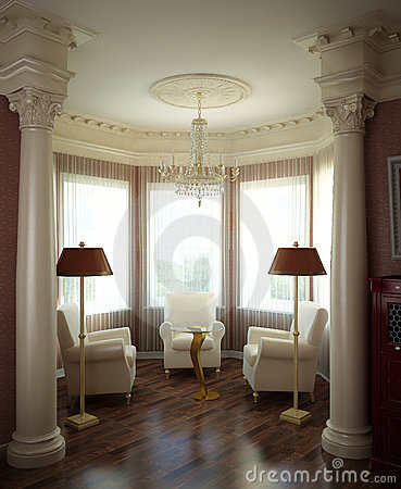 Free 3d Classical Interior Royalty Free Stock Photos - 4571748