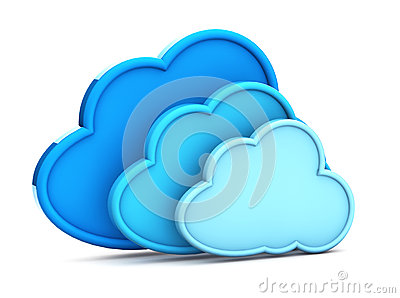 3d cloud computing icon