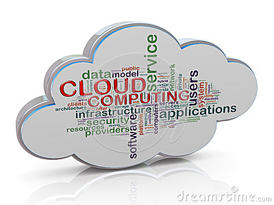 3d cloud computing word tags