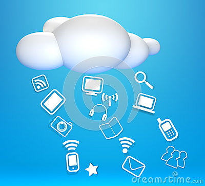 3D cloud and concept communicating