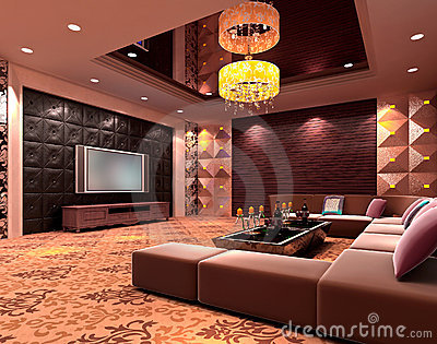 3D club room, hall