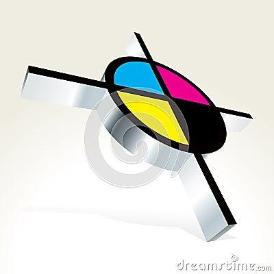 Free 3D CMYK Target Stock Images - 15771104