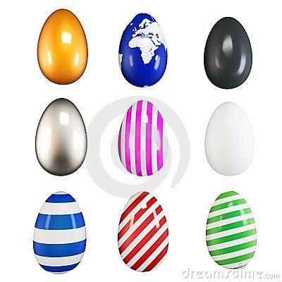 3d collection of easter eggs