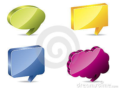 3d color speech bubbles