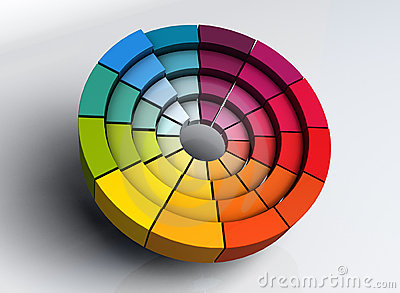 3d Color Wheel Projects Stock Images