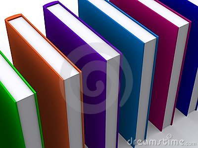 3d colored books