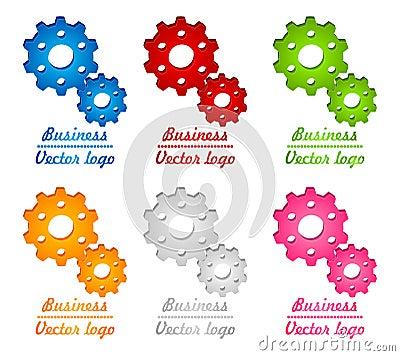 3D colored gear logo