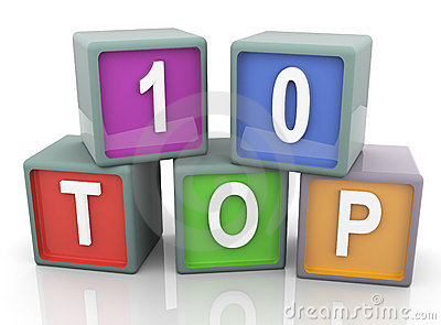 3d colorful text  top 10