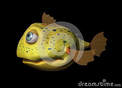 3D Comic Fish
