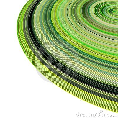 3d concentric pipes in multiple green