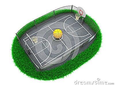 3D Concept Basketball