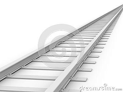 3D concept - Endless Train track