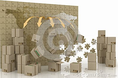 3d concept of logistic