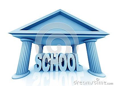 3d concept of school