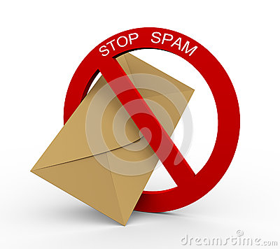 3d concept of stop spam