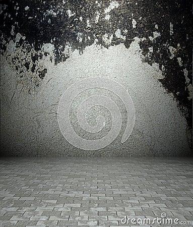 3d concrete and plaster texture, empty interior