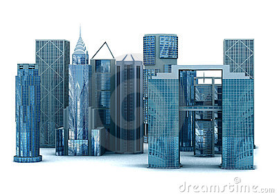 3d corporate buildings