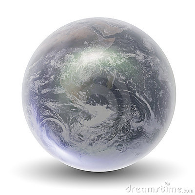 Free 3D Crystal Earth Globe Royalty Free Stock Images - 10750329