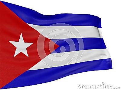 3D Cuban flag