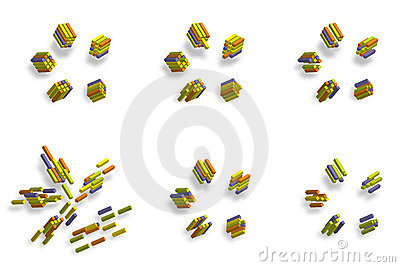 3D cube_abstract illustration