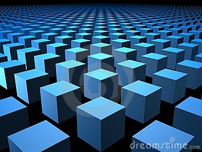 3D Cube Cubes Box Boxes Background