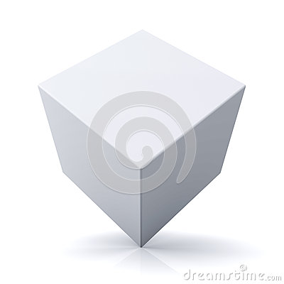 Free 3d Cube Or Box On White Background Royalty Free Stock Photos - 35591318