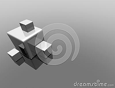 3d cube reflection