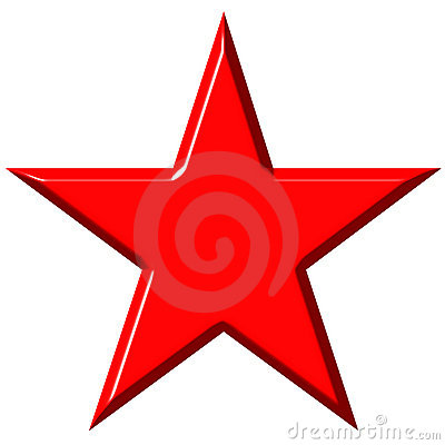 3D Cummunist Red Star