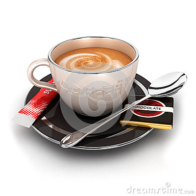 Free 3d Cup Of Coffee Stock Photography - 26792562