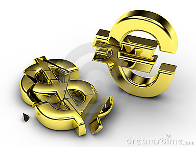 3d currency signs