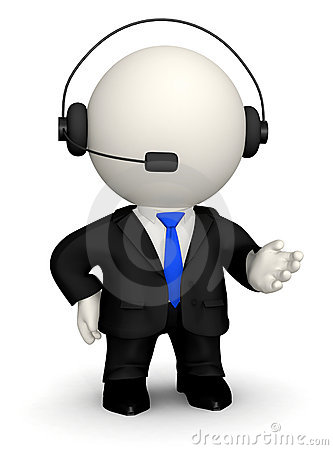 3D Customer support operator