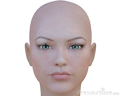 3d Cyber Girl Face Royalty Free Stock Images - Image: 11547799